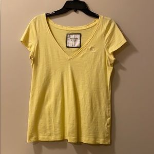 Abercrombie & Fitch V Neck Short Sleeve Tee